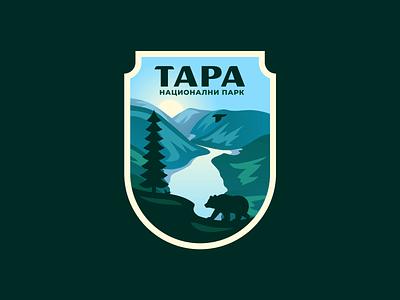 Tara National Park landscape nature bear logo crest badge national park