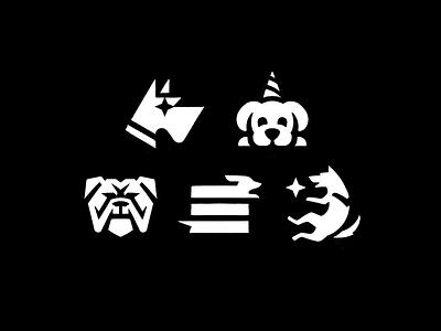 Dogs dogs dog animal mark sketch logo exploration