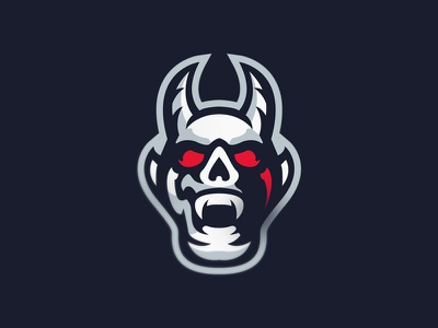 Devil sport esport logo mascot satan devil