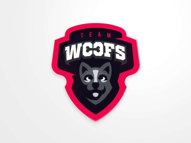 Team Woofs gaming woof sport logo mascot dog