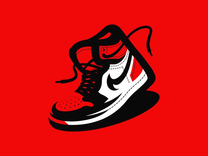 Air Jordan 1 retro red illustration shoes sneakers air jordan nike
