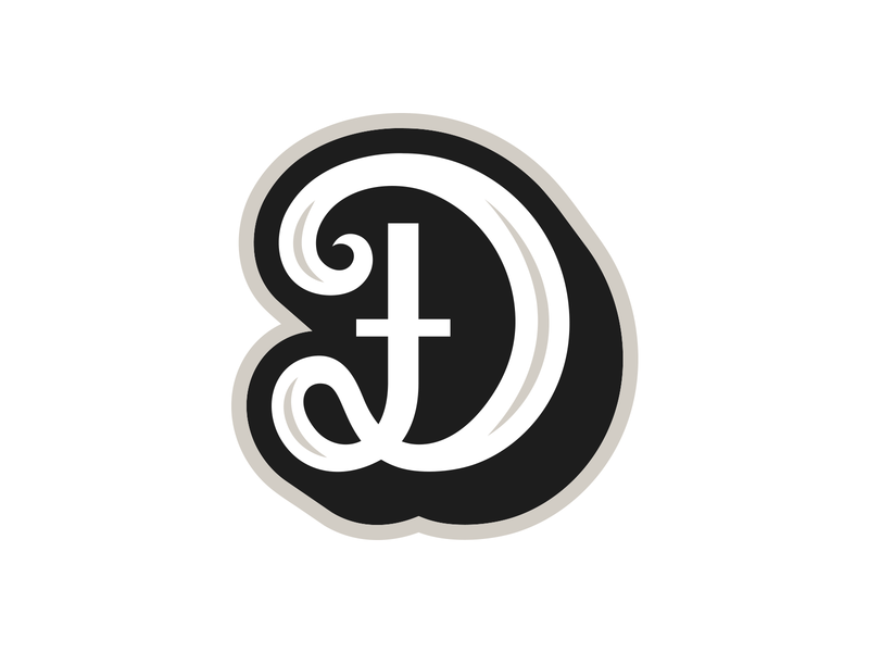 Dj(Đ) mark calligraphy lettering mascot logo