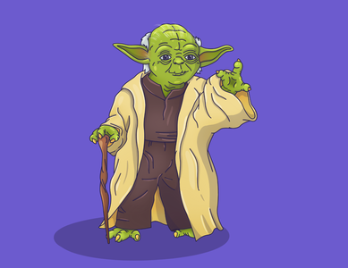 Yoda yoda star wars starwars master jedi illustration graphic character 2d art 2d