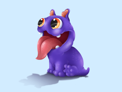 Cute Monster game illustration graphic monster pets sweet cute animal art animal art character illustration