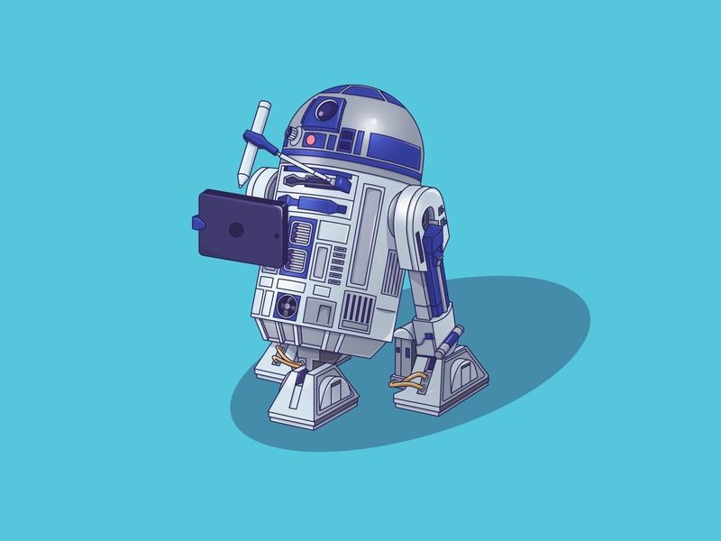 R2-D2 design art machine beep graphic illustration character mechanism robots r2-d2 r2d2 star wars robot
