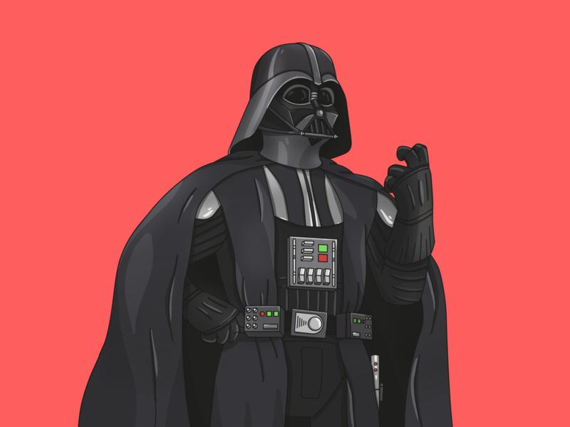 Dart Vaper star wars darth vader graphic character art illustration