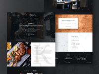 Sparks Restaurant landing homepage web restaurant dark sparks cafe website