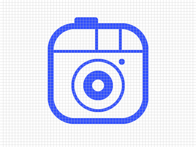 Icons grid coding code photo camera project grid icon