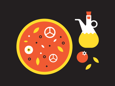 Pizza time italy tomatoes olive oil pizza food infographic icons