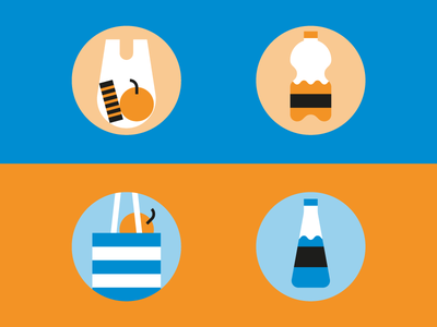 More Dos and Don'ts with plastic! recycle water bottles bags plastic donts dos infographic icons