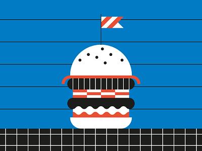 Optical Burger bacon ketchup optical bauhaus burger food