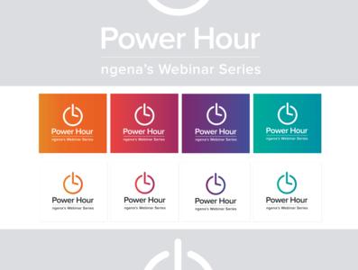 Power Hour logo gradient design gradient color gradient logo logodesign branding logo adobe illustrator