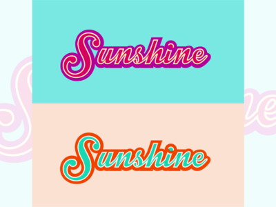 Sunshine Typography