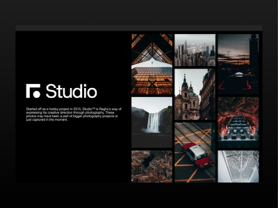 Studio™— A photo journal by Raghu Nayyar photos portfolio ux helvetica black  white typography branding minimal photography