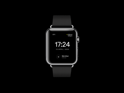 An apple watch—face exploration apple watch watch ux design black  white minimal typography