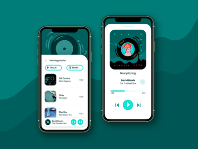 Music player UI music music player artdirection illustration visual design mobile app uiux ui dailyui