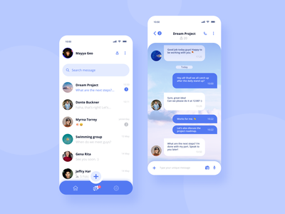 Direct Messaging App inbox messages communication chat directmessaging message mobile visual design app uiux dailyui ui