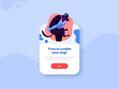 Pop up UI popup design dogillustration overlay popup illustration visual design uiux dailyui ui