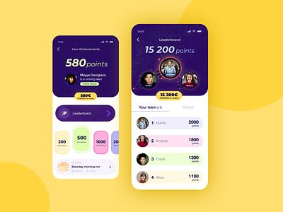 Leaderboard for a Running App running app leaderboard artdirection mobile app visual design uiux dailyui ui