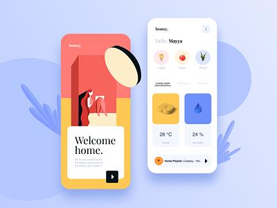 Home monitoring Dashboard mobile app mobile ui dashboard app dashboard ui dashboad home design modern illustration artdirection mobile app visual design uiux dailyui ui