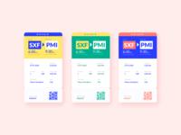Boarding Pass colors modern design ticket artdirection airplane tickets boarding branding boardingpass visual design uiux dailyui ui