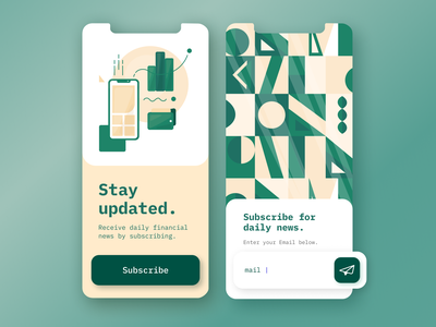 Financial App | Subscribe form colors palette components uiconcept pattern subscribe form subsribe financial app finance design modern illustration artdirection mobile app visual design uiux dailyui ui