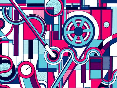 Michael Rother Poster illustration screenprint print under the bridge london harmonia neu michael rother