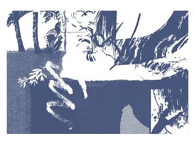 Possible Landscape - BIF live demo print screenprint private press illustration brighton print demo live bif landscape