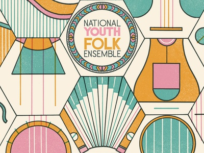 National Youth Folk Ensemble efdss design branding poster print ensemble folk youth national