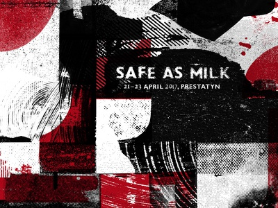 Safe As Milk Poster uk wales festival design screenprint print branding poster milk as safe
