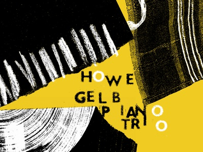 Howe Gelb Piano Trio poster screenprint gig posters poster print luke drozd fire records piano trio howe gelb