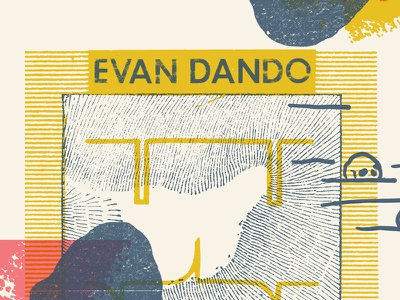 Evan Dando 'Baby, I'm Bored World Tour' poster luke drozd lemonheads fire records screenprint print poster world tour baby im bored evan dando
