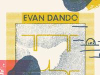 Evan Dando 'Baby, I'm Bored World Tour' poster