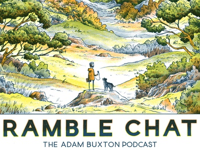 Adam Buxton 'Ramble Chat' Poster / Print ramble chat merch screenprint print podcast poster adam and joe adam buxton