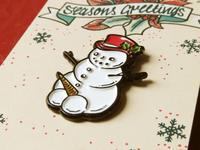Snowballs lapel pin