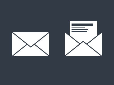 Flat mail icon flat icon mail