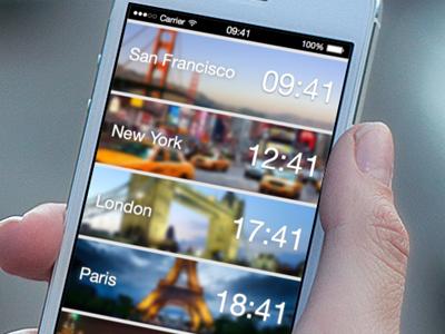 World Clock App clock app ios7