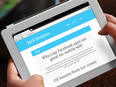 New blog (wip) blog personal site redesign