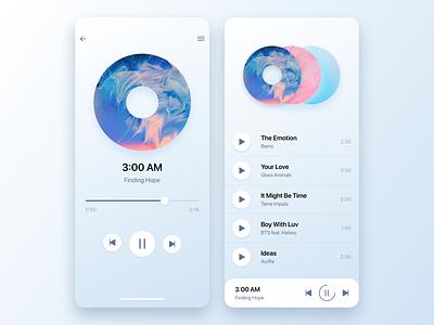 Music Player ios app design ios app ios task list task manager app design app mobile design mobile web web design sketch illustration design ux ui