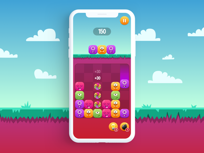 Game App - Candy Monster candy graphic artwork art graphic design casual games casual game art game design game mobile ios app design mobile design app design illustration ios app design ux ui