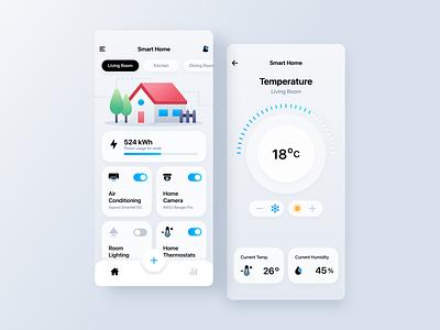 Smart Home App sketch smarthome application design application smart icons android app design android smart home mobile ios app design mobile design app design illustration ios app design ux ui