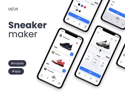 Sneaker Maker App figma design figma creator sneaker ios app design mobile mobile design app design ios app design ux ui