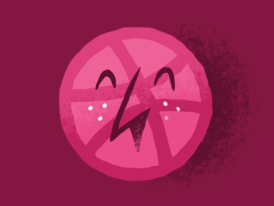 the Feebbbles design and happiness happy face the feebles illustration pink dribbble balloon