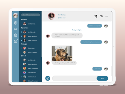 DailyUI Day 13 - Direct Messaging messaging mobile design app ui dailyui challenge daily ui dailyui design