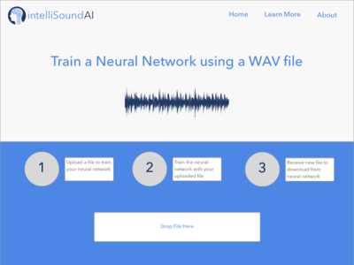 intelliSoundAI - Sketch Mock bulmacss neural network mern reactjs nodejs intellisoundai artificial intelligence machine learning web design ui design website