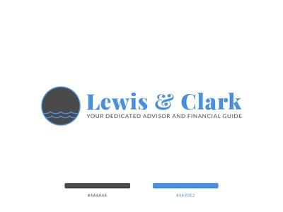 Lewis And Clark Logo lato playfair display simple advising finance financial advisors lewis and clark logo design design logo