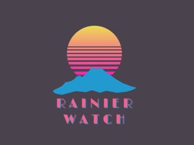 Synthwave Tee Design - Rainier Watch moon sun limelight design retrowave synthwave outrun shirt mountain rainier watch t-shirt tshirt