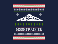 'Ugly Christmas' Sweater - Mount Rainier Edition