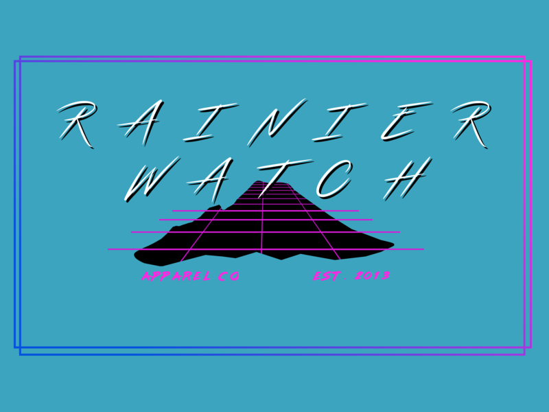 Another 80s Design tee shirt tee throwback retro synthwave outrun 80s streamster lazer84 sketch mountain mount rainier t-shirt rainier watch design