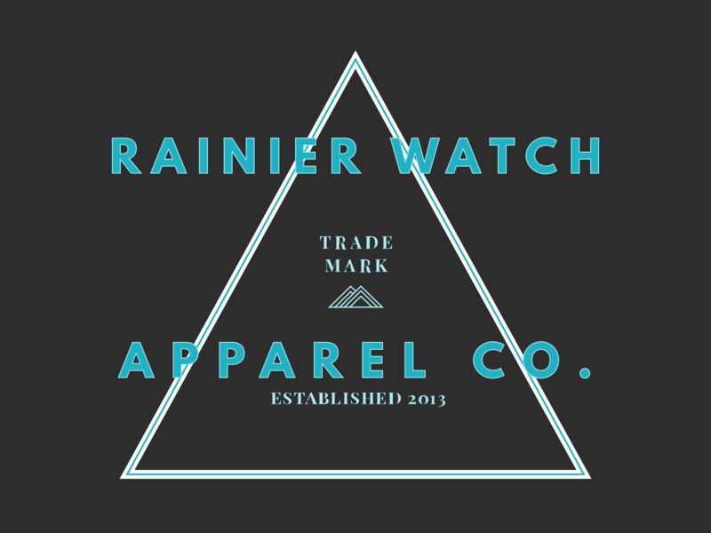 Rainier Watch Apparel Co playfair display shirt apparel league spartan t-shirt tee shirt mount rainier mountain rainier watch design